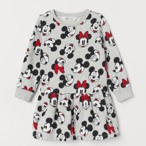 H&M Minnie Mickey Printed Sweatshirt Dress